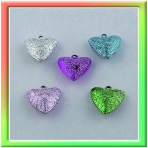 "Бубенчики ""сердечко"" 20мм (цена за 20шт) цветные (thumb10382)"