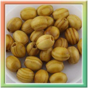 Бусины оливковое дерево d 10*8мм (ок.100гр) цвет натуральный (thumb10731)