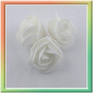 Розочка из фоамирана d2.5см (50шт) белый (thumb8070)
