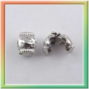Бусина маскирующая декоративная 11*9мм (цена за 10шт) никель (thumb9587)