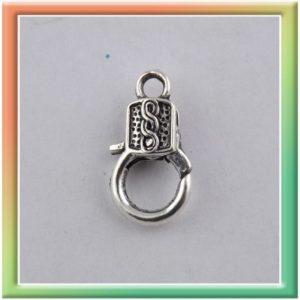 Замок-лобстер 17*9мм f-35 (цена за 10шт) никель (thumb9640)