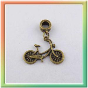 """Бусина-пандора 4*7мм с подвеской """"велосипед"""" 20*26мм (цена за 10шт) (thumb6406)"""