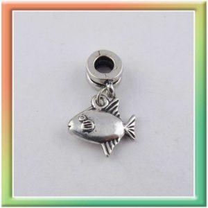 """Бусина-пандора 4*10мм с подвеской """"рыбка"""" (цена за 10шт) (thumb6408)"""