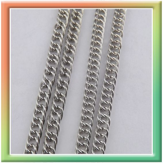 CN06581 двойная 6*4мм (25м) (цена за 25м) никель (thumb9032)