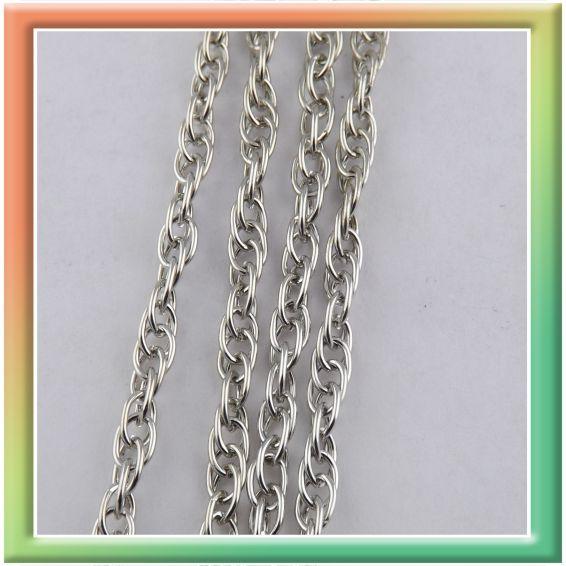 CN06583 двойная 5*4мм (25м) (цена за 25м) никель (thumb9036)
