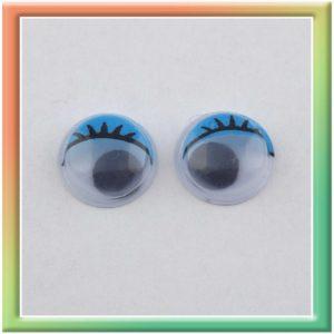 Глазки клеевые d12мм (100шт) голубые (thumb5285)