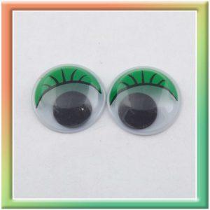 Глазки клеевые d18мм (50шт) зелёные (thumb5289)