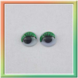 Глазки клеевые d8мм (100шт) зелёные (thumb5290)