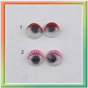 Глазки клеевые d8мм (150шт) цвет в ассортименте (thumb5292)