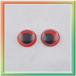 Глазки клеевые 10мм (100шт) черн/красные (thumb5294)