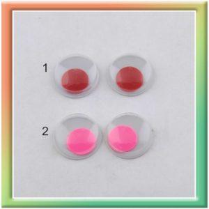 Глазки клеевые 12мм (100шт) цвет в ассортименте (thumb5296)