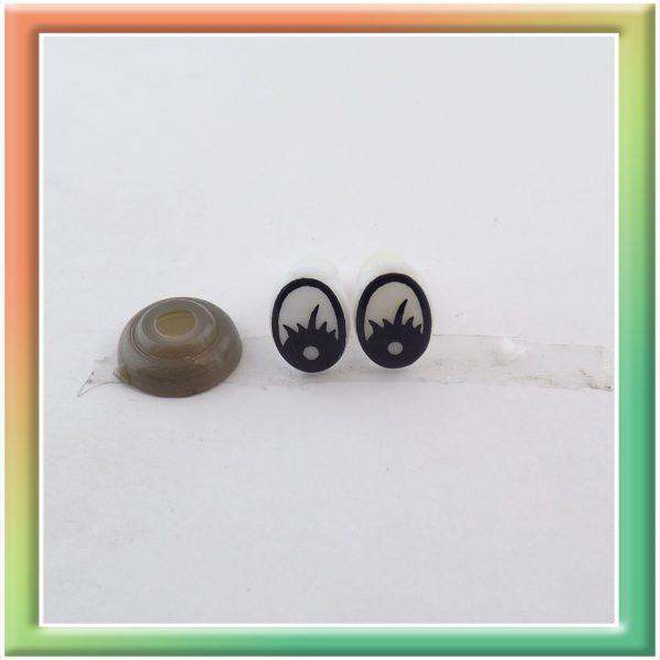 Глазки винт. 10*7мм (50пар) бело/черные (thumb5914)