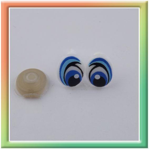 Глазки винт. 12,5*10мм (50пар) бело/голубые (thumb13878)