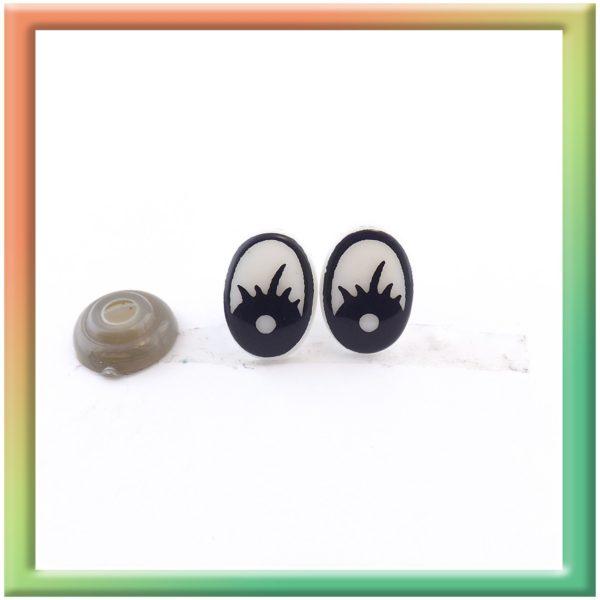 Глазки винт. 10*14мм (50пар) черно/белые (thumb5921)