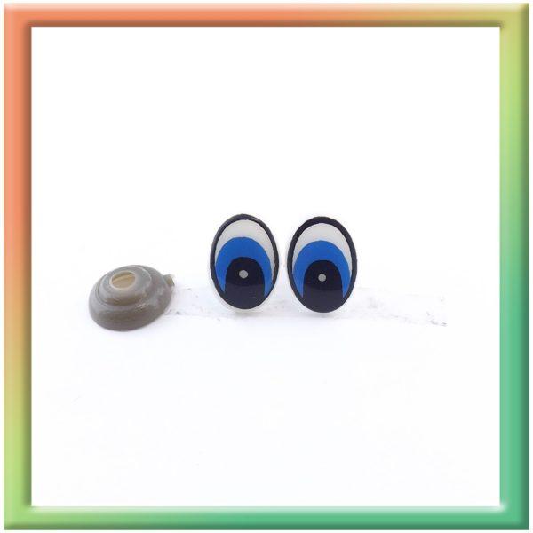 Глазки винт. 10*14мм (50пар) бело/голубые (thumb5925)