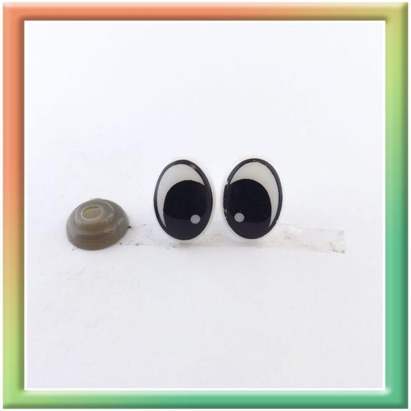 Глазки винт. 15*11мм (30пар) бело/черные (thumb5927)