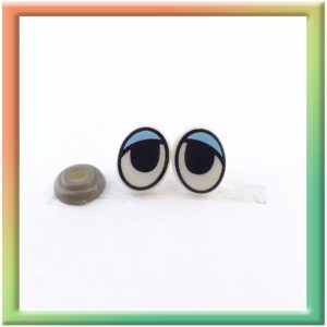 Глазки винт. 15*12мм (30пар) бело/голубые (thumb5930)