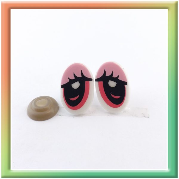 Глазки винт. 14*21мм (30пар) бело/розовые (thumb5950)