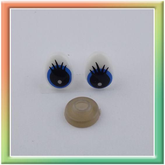 Глазки винт. 13*10мм (50пар) бело/голубые (thumb13594)