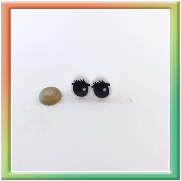 Глазки винт. 13*10мм (50пар) бело/черные (thumb6073)