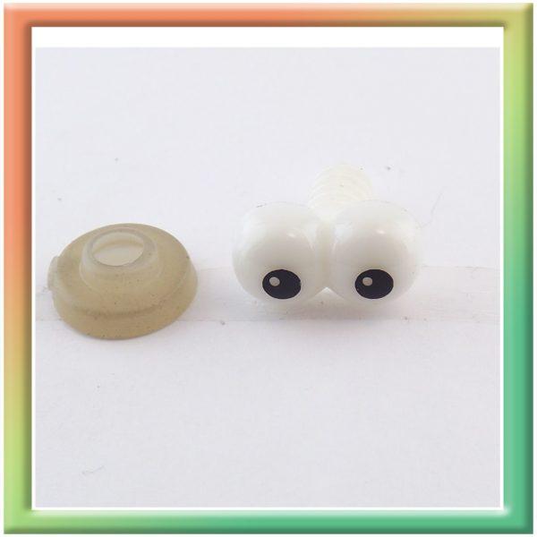 Глазки винт. 12*7мм (50шт) черно/белые (thumb6132)