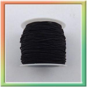 Резина в цветной оплётке (1шт) черный (thumb12190)